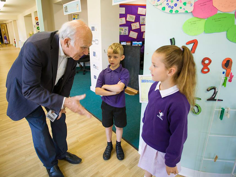 Visit by Vince Cable, MP for Twickenham.